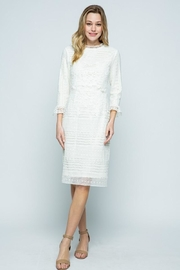 Polagram Ivory Classy Lace Midi - Front cropped
