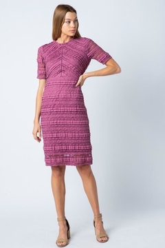 Polagram Mauve Lace Midi Dress - Product List Image