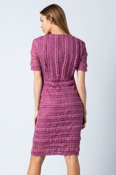 Polagram Mauve Lace Midi Dress - Alternate List Image