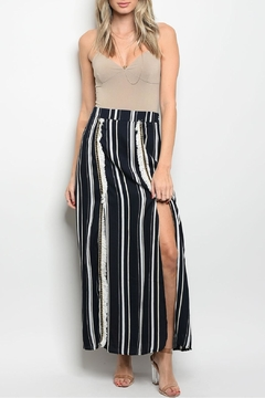 Polagram Stripe Fringes Skirt - Product List Image