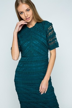 Polagram Teal Lace Midi Dress - Alternate List Image