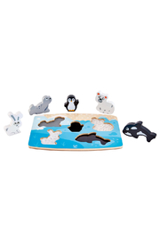 Hape Polar Animal Tactile Puzzle - Front cropped