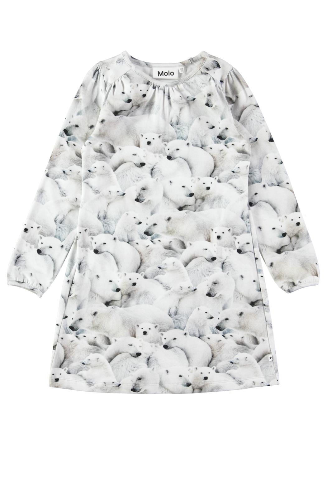 Molo Polar Bear Dress - Front Cropped Image