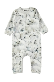 Molo Polar Bear Playsuit - Front cropped