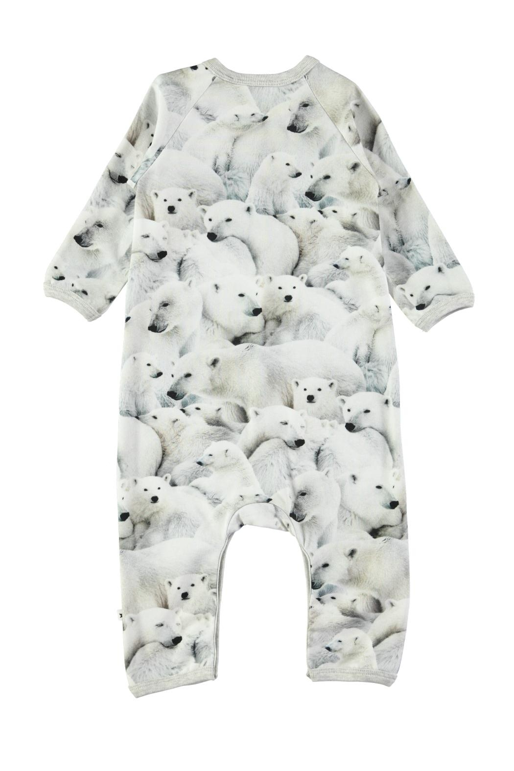 Molo Polar Bear Playsuit - Front Full Image
