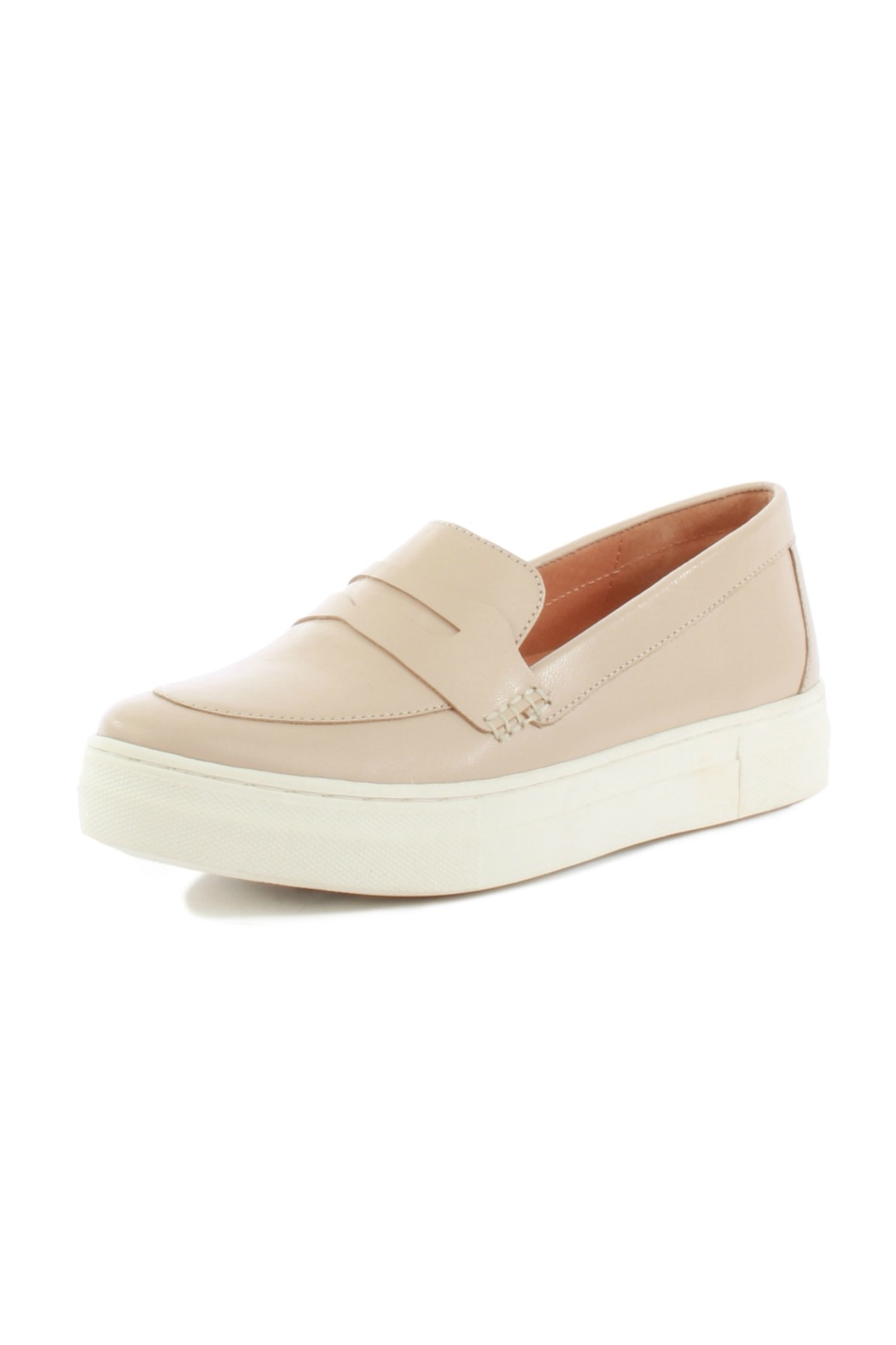 Seychelles Polar Desert Nude Leather Loafer - Front Cropped Image