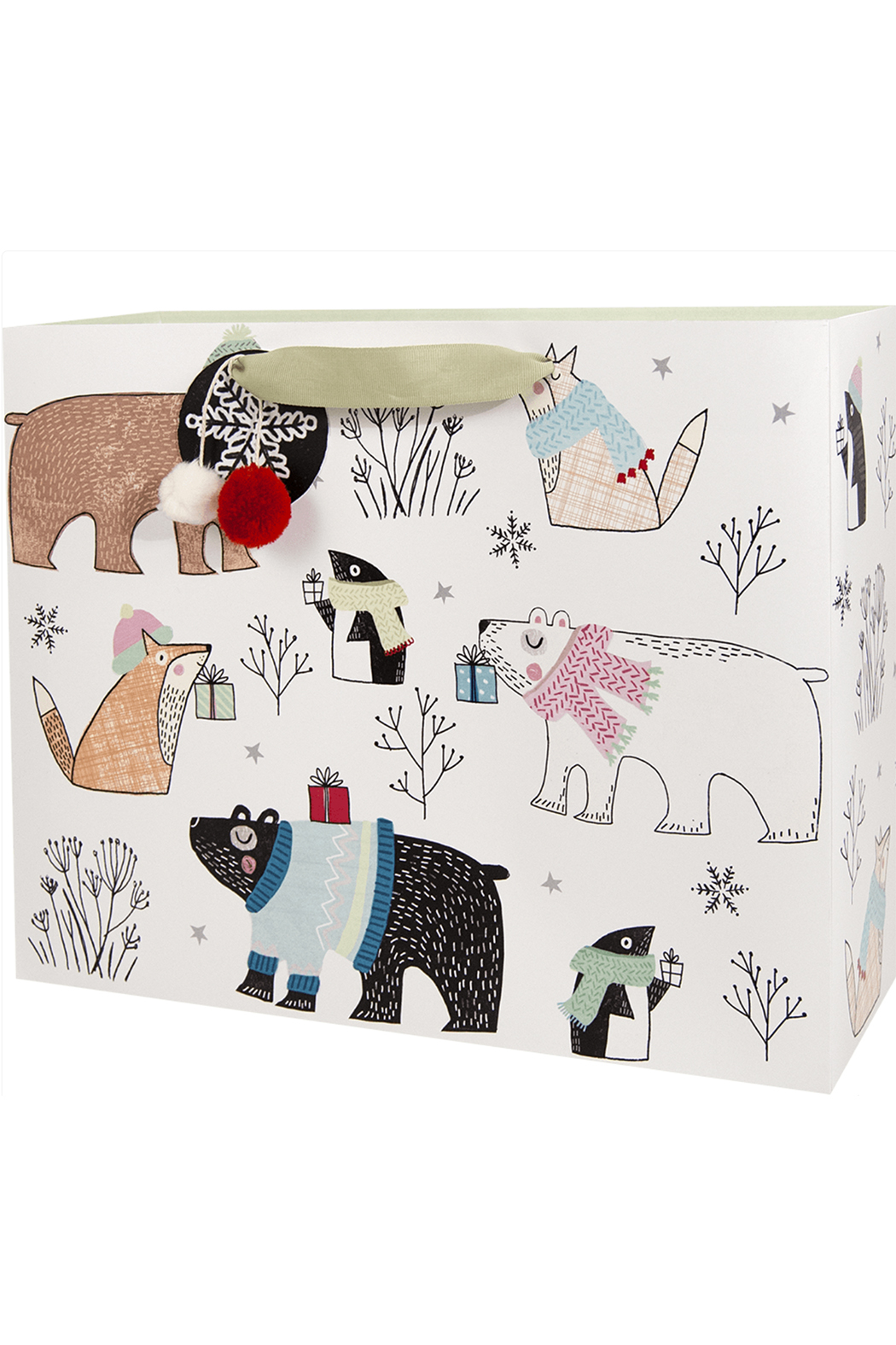 The Gift Wrap Company Polar Sophisticate Vouge Gift Bag - Main Image