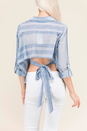 Polaroid Button Up Blouse - Front full body