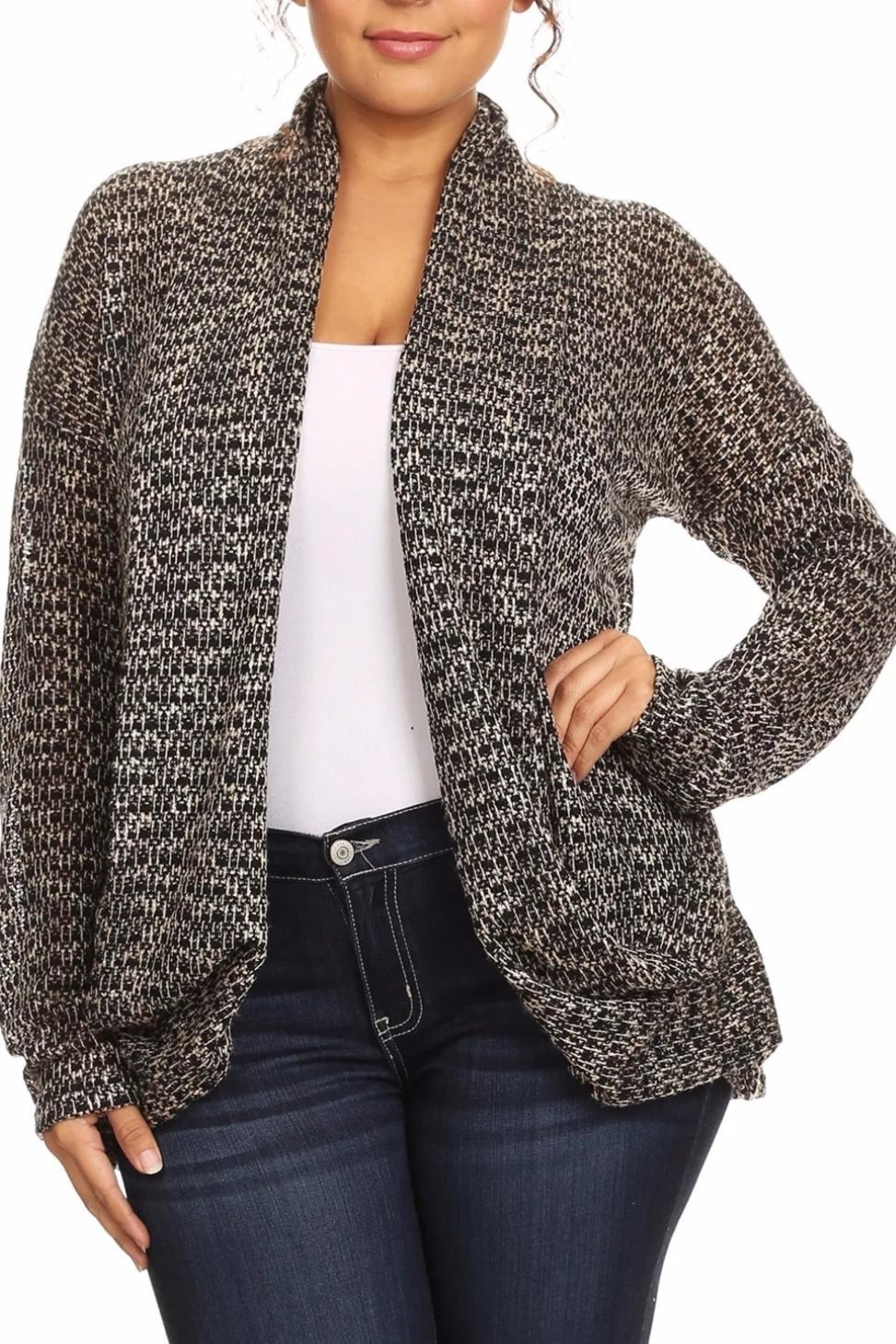 Poliana Plus The Emily Cardigan - Main Image
