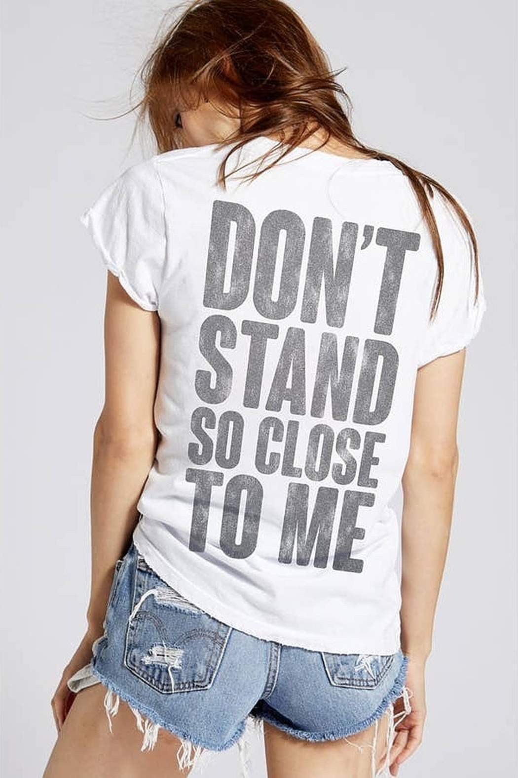 Recycled Karma Police Don't Stand Close Tee - Front Cropped Image