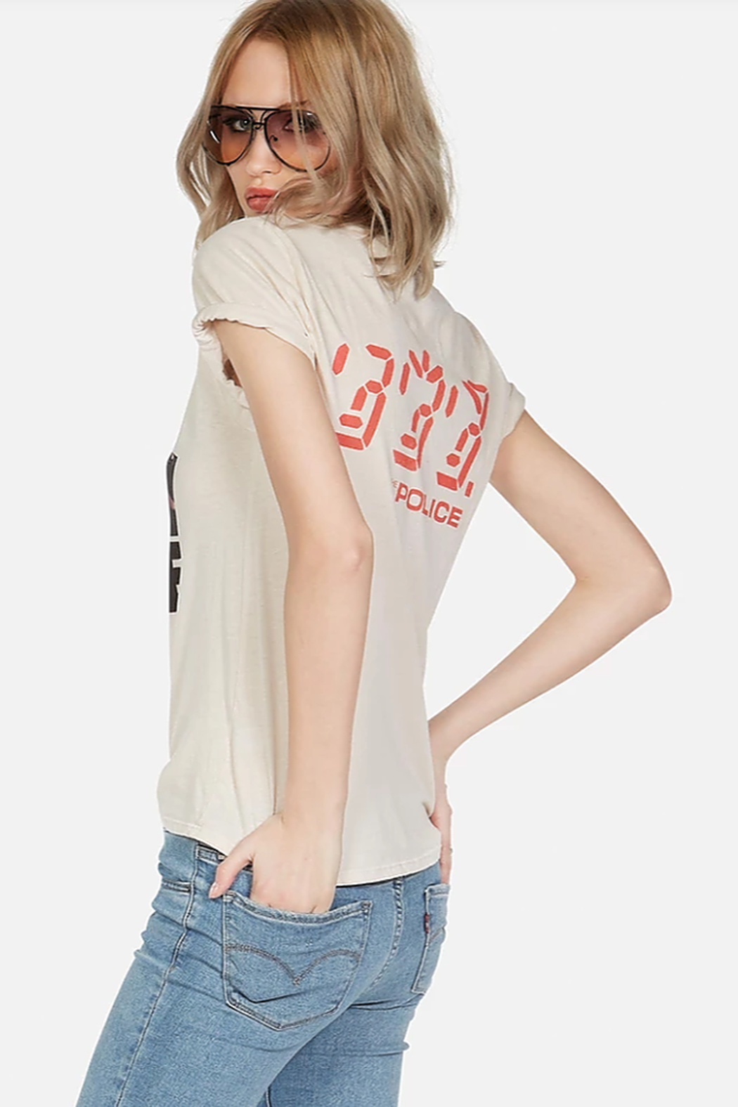 Lauren Moshi Police Ghost in the Machine Tee - Side Cropped Image