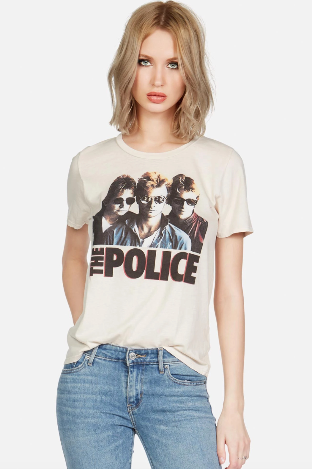 Lauren Moshi Police Ghost in the Machine Tee - Front Cropped Image