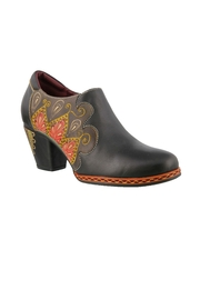 Spring Footwear Polished Leather Shootie - Front cropped