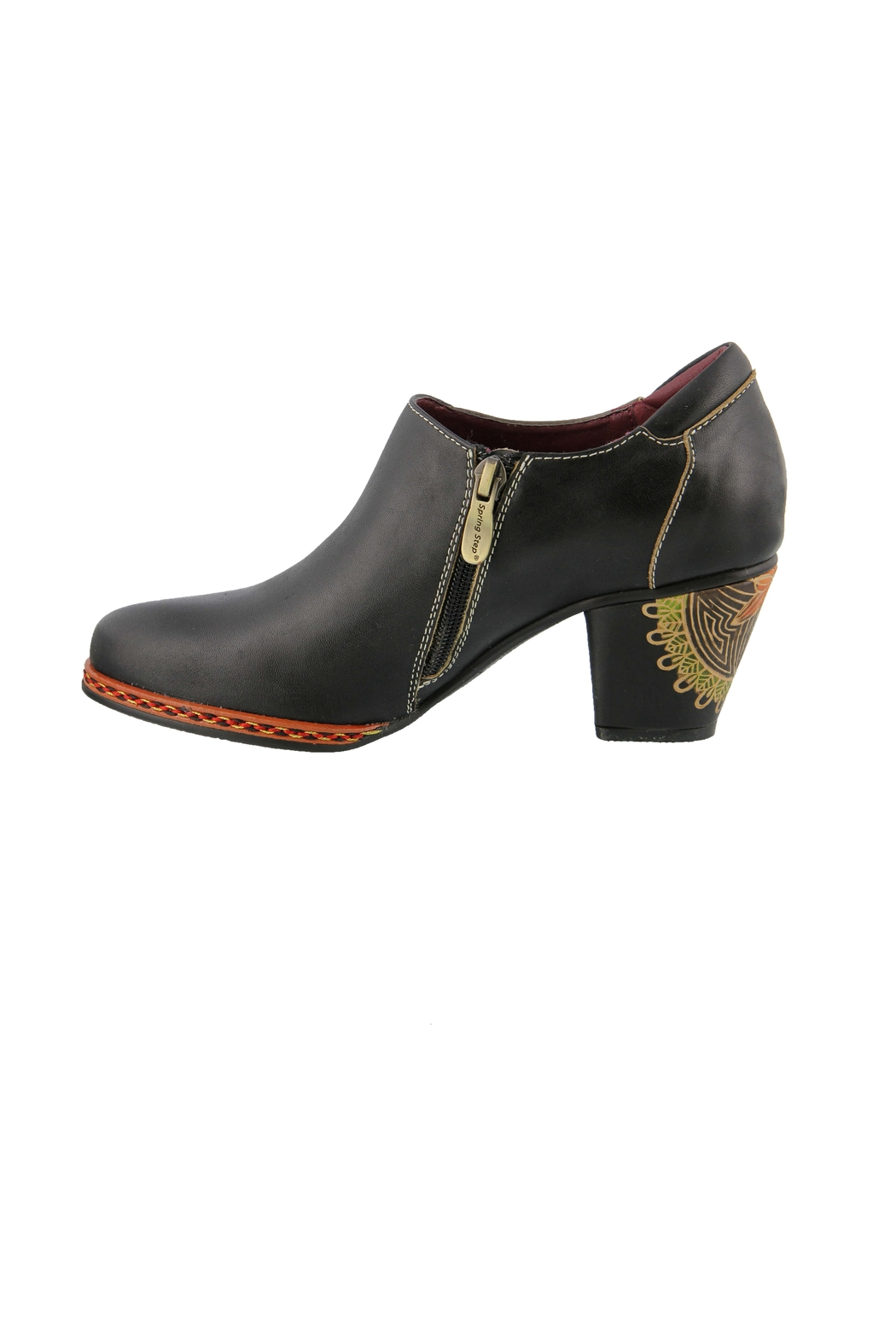 Spring Footwear Polished Leather Shootie - Front Full Image