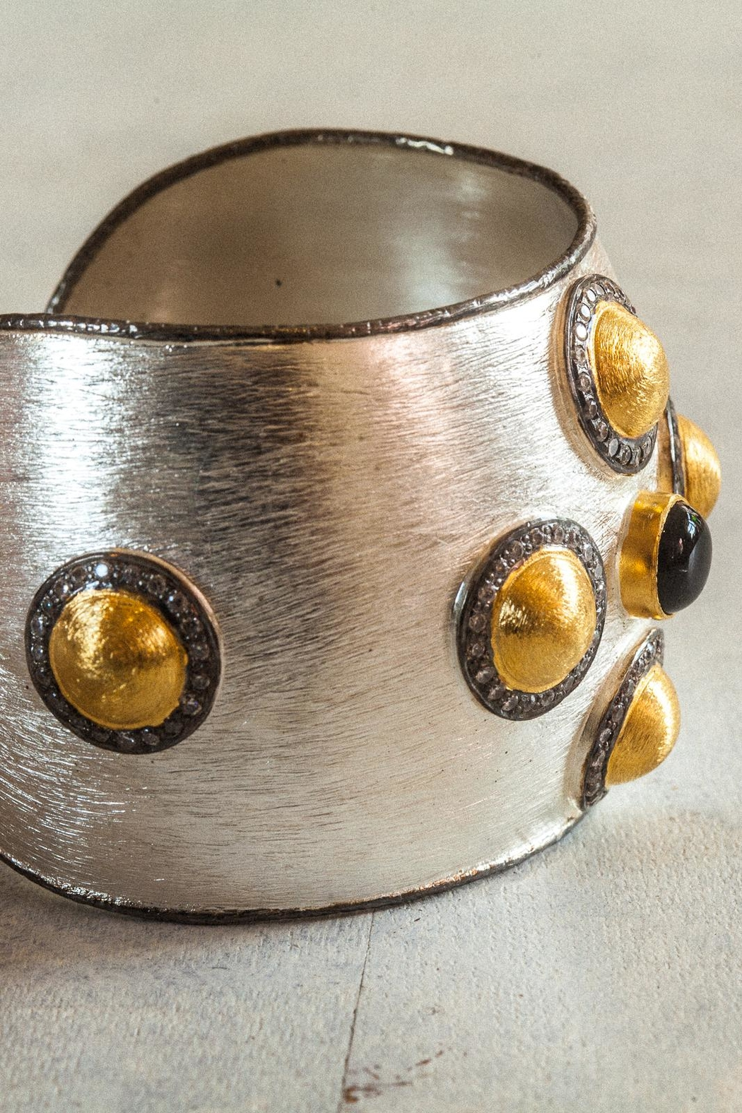 aaRaa Polished Silver Cuff - Back Cropped Image