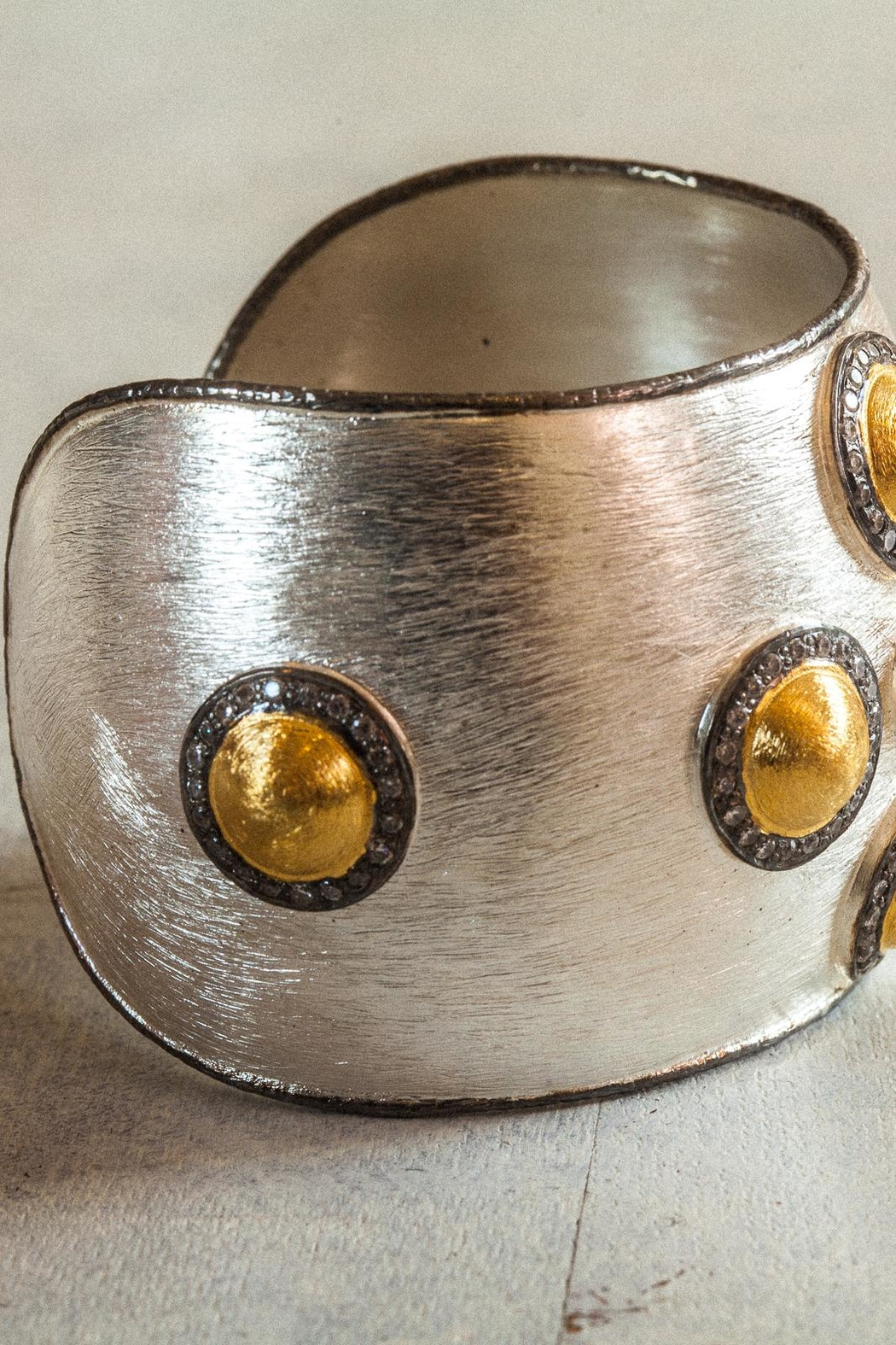 aaRaa Polished Silver Cuff - Side Cropped Image