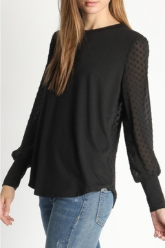 Shoptiques Product: Polka-Dot Back-Buttoned Blouse