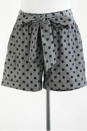 Final Touch Polka-Dot Belted Shorts - Product Mini Image