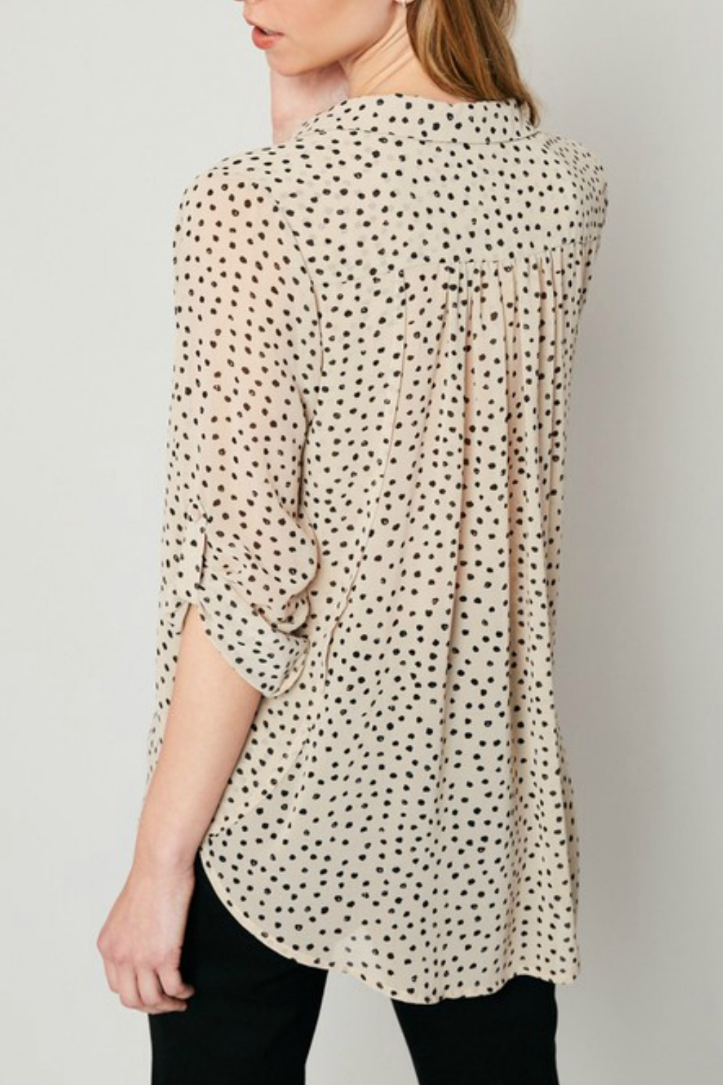 Hayden Polka Dot Blouse - Side Cropped Image