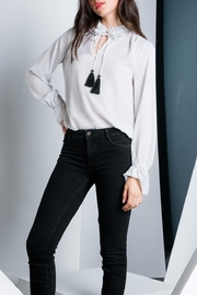 THML Clothing Polka Dot Blouse - Front cropped