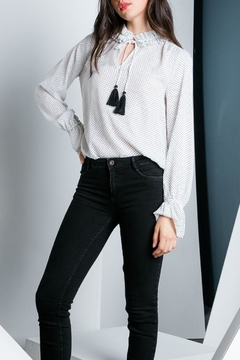 THML Clothing Polka Dot Blouse - Alternate List Image