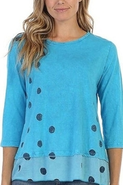 Jess & Jane Polka Dot Cotton Tunic T-shirt Coco Dots - Product Mini Image