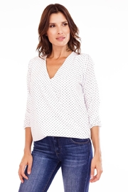 Veronica M Polka Dot Crossover Blouse - Product Mini Image