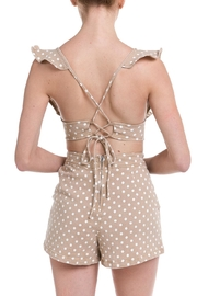 Do & Be Polka-Dot Denim Romper - Side cropped