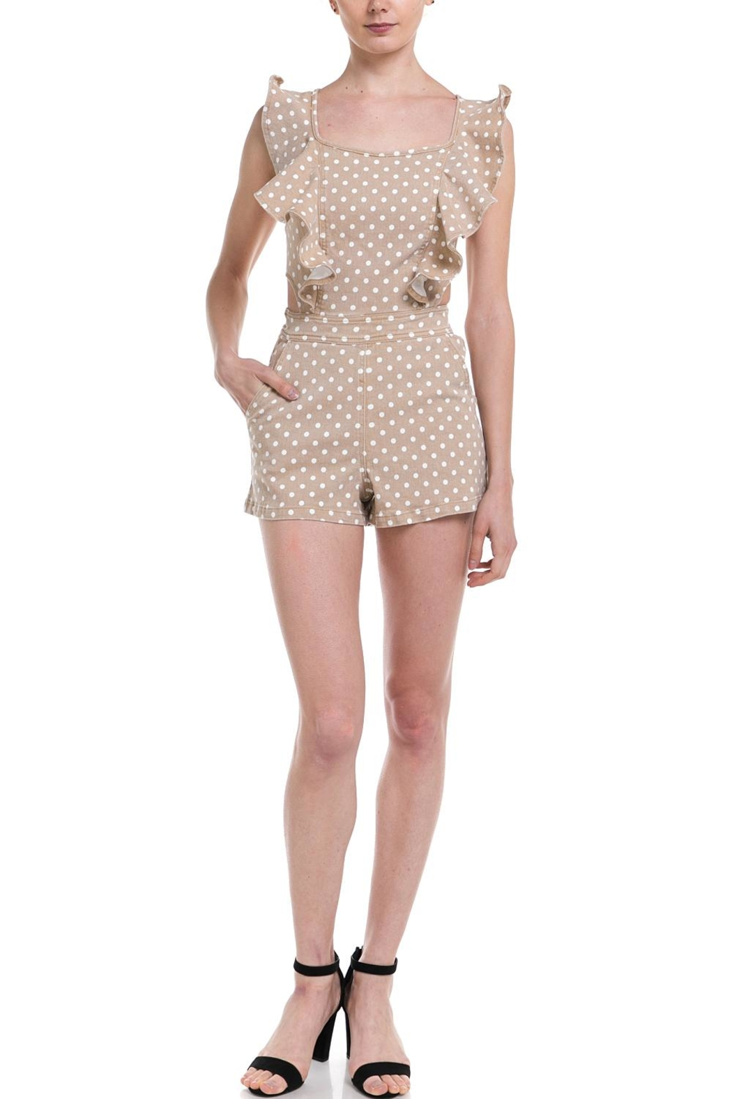 Do & Be Polka-Dot Denim Romper - Main Image