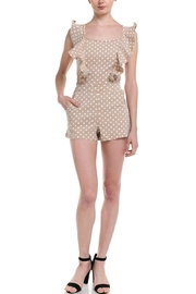 Do & Be Polka-Dot Denim Romper - Front cropped
