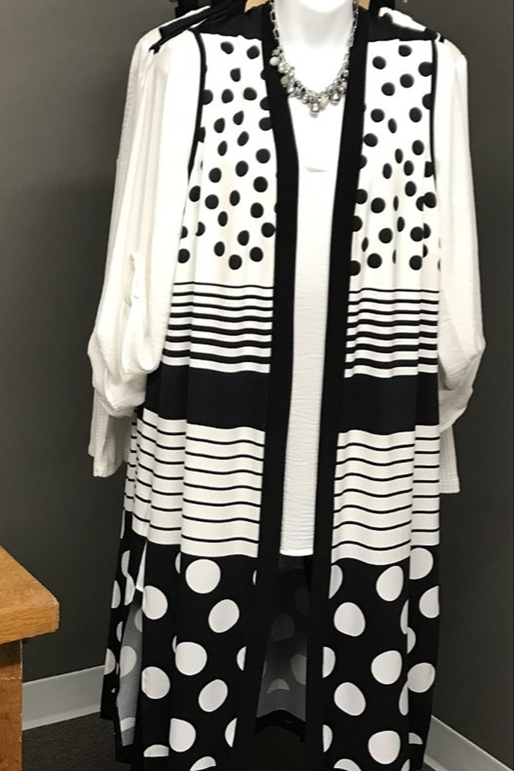 Michael Tyler Collections Polka Dot Duster Vest - Main Image