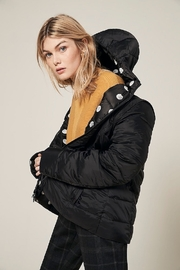 Charlie B. Polka Dot Four Way Puffer Jacket - Front cropped