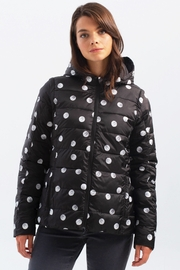 Charlie B. Polka Dot Four Way Puffer Jacket - Front full body