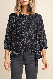 Mittoshop Polka-Dot Front-Tie Blouse - Product Mini Image