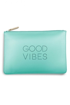 """Shoptiques Product: Polka Dot """"Good Vibes"""" Pouch"""