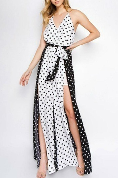 Strut & Bolt Polka Dot Jumpsuit - Product List Image
