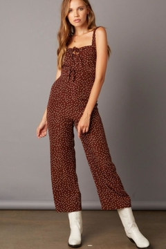 Cotton Candy LA Polka Dot Jumpsuit - Product List Image