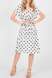 Paper Crane Polka Dot Linen Dress - Product Mini Image