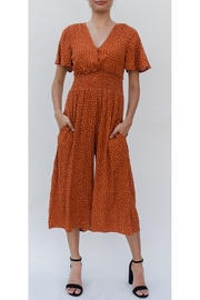 Illa Illa Polka-Dot Orange Jumpsuit - Product Mini Image