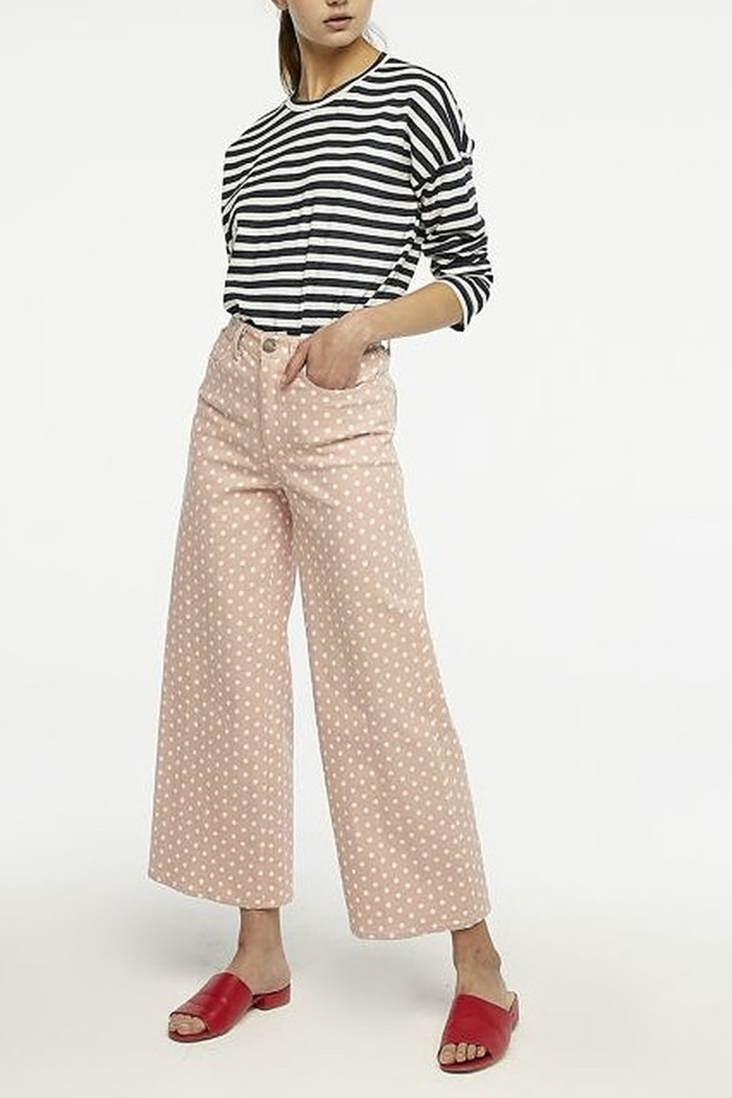 Compania Fantastica Polka Dot Pants - Back Cropped Image