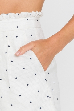 FREE THE ROSES Polka Dot Pleated Shorts - Alternate List Image