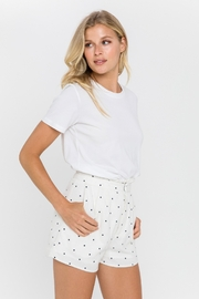 FREE THE ROSES Polka Dot Pleated Shorts - Front cropped