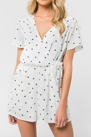 Everly Polka Dot Romper - Front cropped