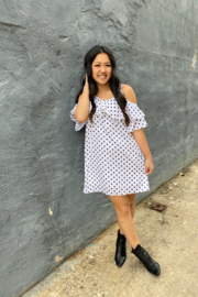 umgee  Polka Dot Ruffle Dress - Product Mini Image