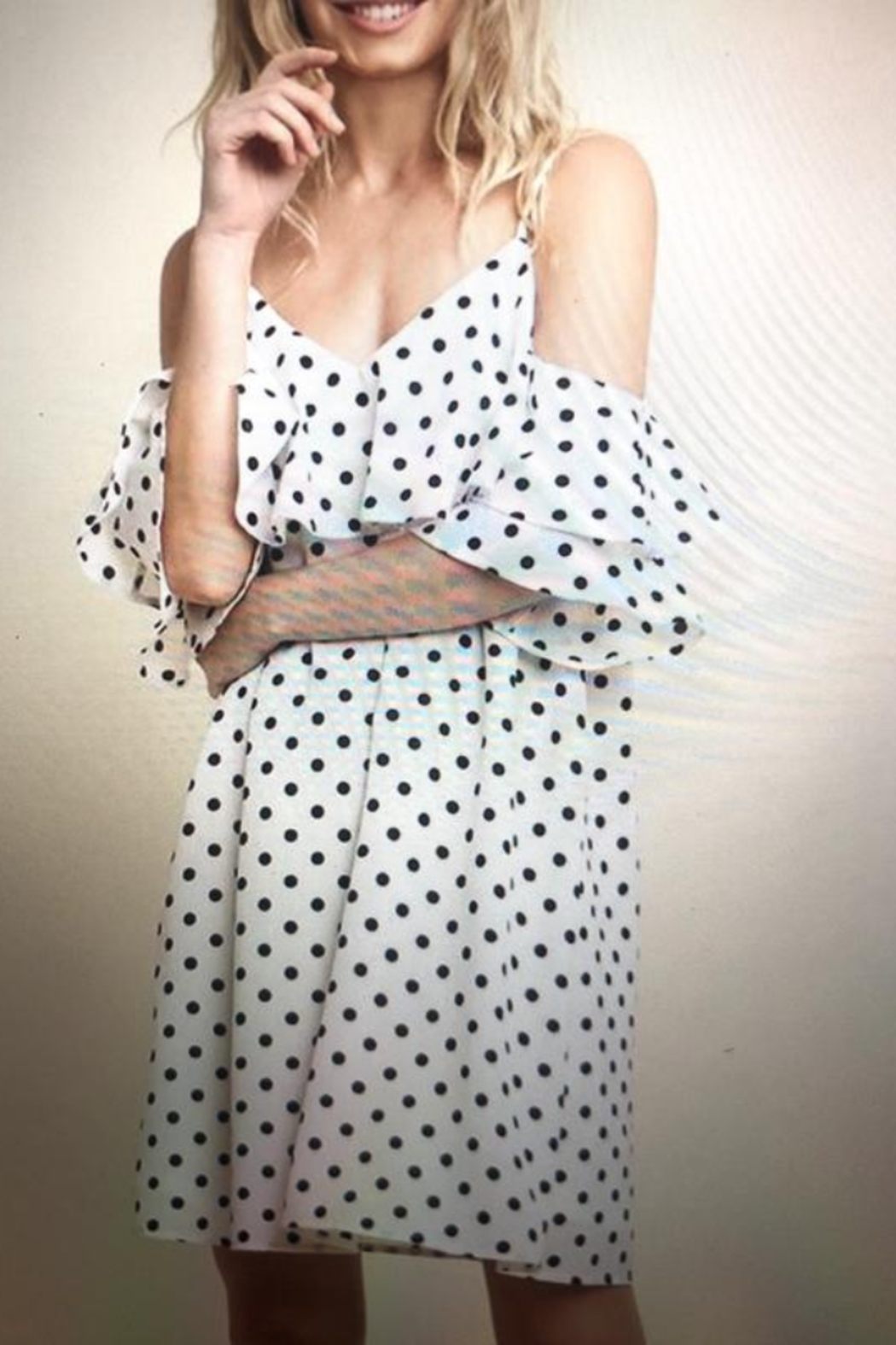 umgee  Polka Dot Ruffle Dress - Main Image