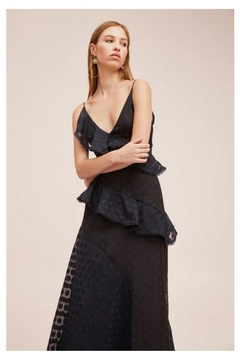 Shoptiques Product: Polka-Dot Ruffle Gown