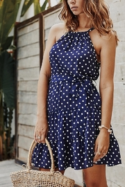 Lyn-Maree's  Polka Dot Ruffle Halter - Product Mini Image