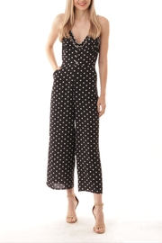 ijoah Polka-Dot Ruffle Jumpsuit - Product Mini Image