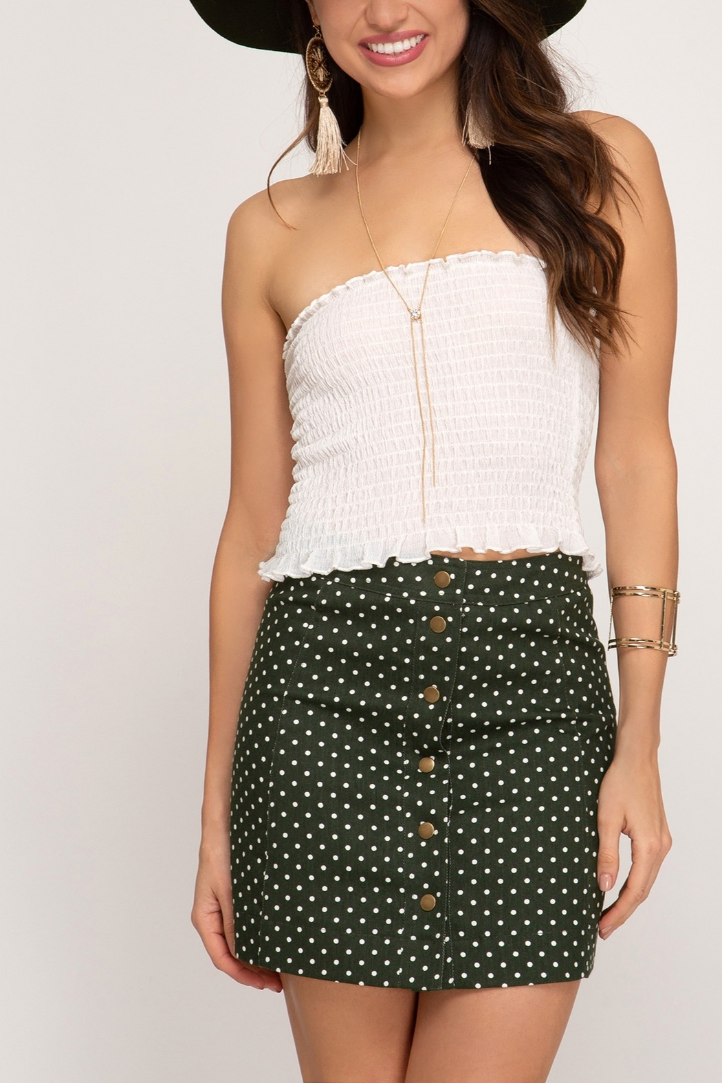 Lyn-Maree's  Polka Dot Skirt - Front Cropped Image
