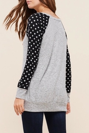 LuLu's Boutique Polka-Dot Sleeve Top - Side cropped